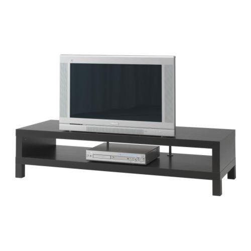 IKEA LACK TV-Bank in schwarzbraun; (149x55cm)