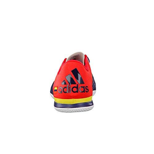 adidas X 15.2 Court, Chaussures de Foot Homme Noir / rouge / jaune (bleu marine collégial / rouge intense / jaune brillant)