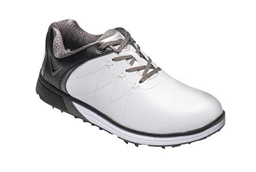 Callaway Halo PRO Waterproof Spikeless, Scarpe da Golf Donna, Bianco White/Black, 38 EU