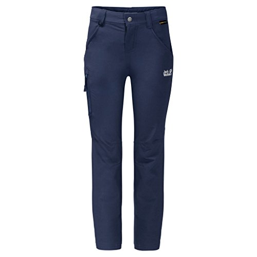 Jack Wolfskin Kinder Activate Pants Kids Wasserabweisend Elastisch Atmungsaktiv Windabweisend Outdoor Softshell Hose, Navy blau, 164