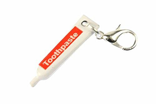 Miniblings Zahnpasta Zahncreme Charm Zipper Pull Anhänger Bettelanhänger