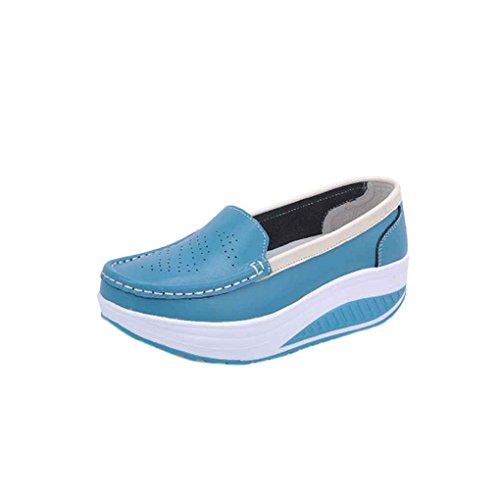 Minzhi Frauen Sommer Anti-Rutsch-Atmungsaktive Plattform Krankenschwester Schuhe Reine Farbe Leder Flache Keilabsatz Arbeitsschuhe