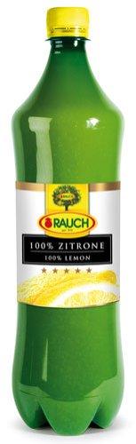 Rauch Zitronensaft 100 %, PET - 1L - 2x
