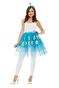 Smiffys 47781 - Kit de pavo real para mujer, talla única, color azul