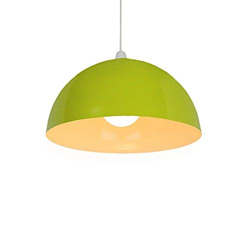 Loxton Lighting-Lámpara de techo lámpara de techo con cúpula de metal de acero, verde oliva, 60W, 35cm