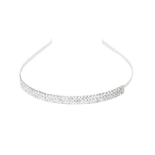 WINOMO Braut Hochzeit Perle Strass Diadem Tiara Stirnband Haarspangen Haarreifen Haar Schleife...