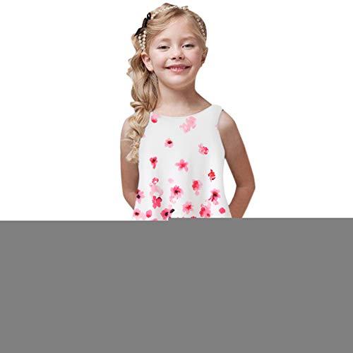 Zylione MäDchen Kleid Baby Sommer Digitaldruck äRmellose Weste Rock Kinder Tag Geschenk (Für 1950er-jahre-outfits Jungen)