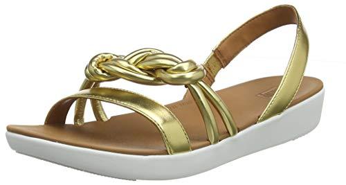 Fitflop Swirl Knot Jasmin Sandal, Punta Aperta Donna, Oro (Artisan Gold 667), 41 EU