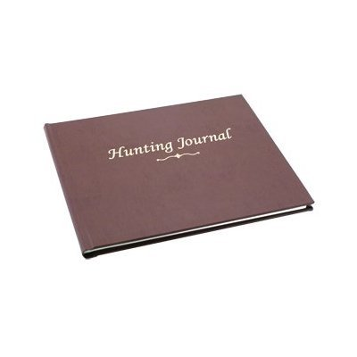 bookfactory-hunting-journal-hunting-log-book-96-pages-tan-bonded-leather-cover-hardbound-8-7-8-x-7-j