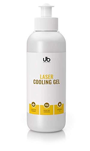 UB Laser Cooling Gel - Kühlgel für Lasertherapie - Lasergel zur Verwendung mit IPL & Lichttherapie. Kontaktgel reduziert Schmerzen. Verhindert ein Überhitzen der Haut - 250 ml