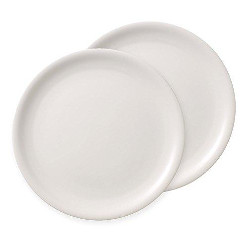 Villeroy & Boch Dune Assiette à Pizza/Vaisselle en Haute qualité Premium Porcelain/2 2 pièces Set de Vaisselle, Porcelaine, Blanc, 35 x 36 x 3,5 cm, de 2 unités
