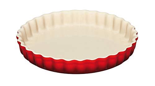 Le Creuset 91015928060100 Steinzeug Tarte-Form, 28 cm, kirschrot