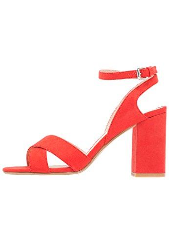 Even&odd sandali da donna con tacco alto e cinturino a caviglia, arancione, 42