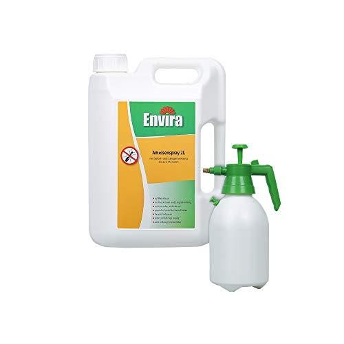 Envira Ameisen-Spray - Anti-Ameisen-Mittel Mit Langzeitwirkung - Geruchlos & Auf Wasserbasis - 2 Liter + 2L Sprüher