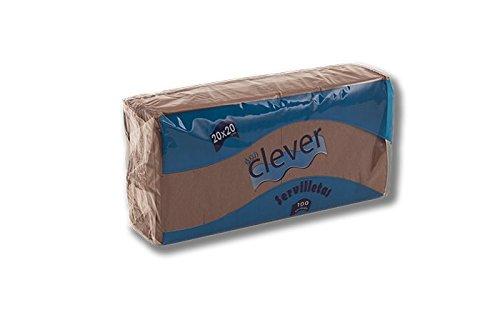 DON CLEVER SERVILLETA 20X20 Marron Chocolate/Caja ECONOMICA 32 Paquetes/2 Capas CASA, Bar, Restaurante