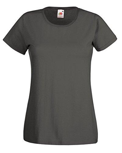 T-shirt à manches courtes Fruit Of The Loom pour femme Gris graphite clair