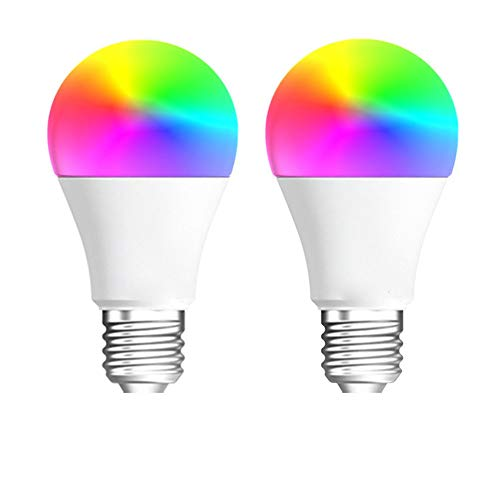 2er-Pack Intelligente WiFi-Fernbedienung Mit LED-Lampe Alexa Echo Google Home Speech Intelligent Bulb 12W Speech Bluetooth