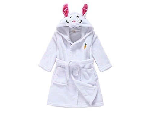 Vfk v regalo accappatoio per bambini in cotone con cappuccio, pigiama con cappuccio per il bambino