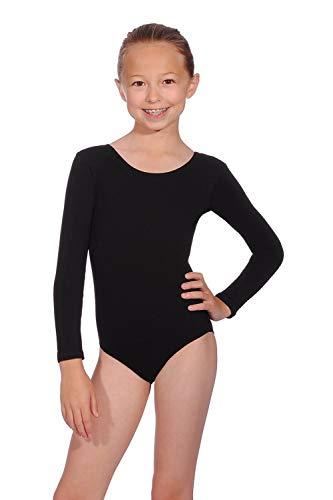 Roch Valley Donna - Langärmeliges Ballett Trikot Schwarz 0 (98-104cm) - Langärmelige Trikot