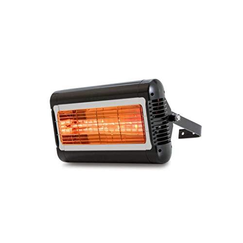 Tansun Quarzheizstrahler Sorrento 2 kW schwarz 2000 W 230 V/50 Hz Schwarz IP24 3,4 kg - 2