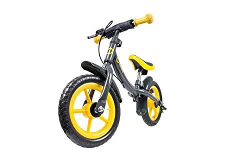 Lionelo Dan Plus Laufrad Kinder Fahrrad ab 2 Jahre für Junge Mädchen Balance Bike aus Stahl Kinderlaufrad mit Pedal Bremse Kotflugel Kinderlaufrad (Gelb)