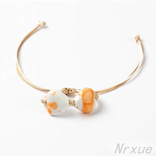 Nrxue Armbandgeometrische Form Keramikperlen Armband Mädchen Handgemachtes Armband