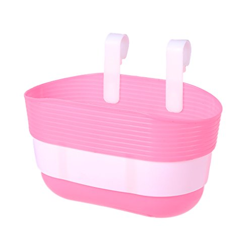 lpyfgtp - Plastic Bicycle Basket, for Hanging on the Front Handlebar, Pink, size One size
