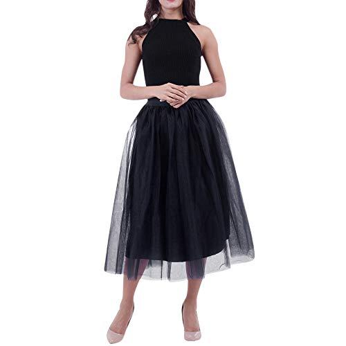 LMRYJQ Tutu Kleid Frauen Plus Size Mesh Tüllrock Plissee Prinzessin Rock Mesh Bubble Rock informell Mini Skater Rock