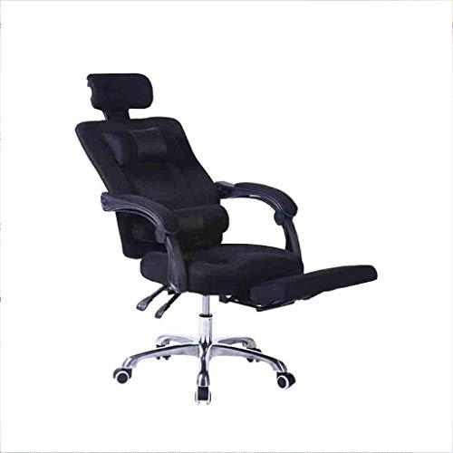 Xuerui girella da 360 gradi sedia girevole domestico ufficio computer sedia corpo umano ingegneria imparare sedia rete stoffa sedia durevole (colore : nero)