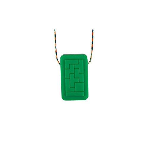 Chewigem sensorische Geotag-Halskette, kaubares Spielzeug für Autismus und ADHS. Spielen Schokolade Milch