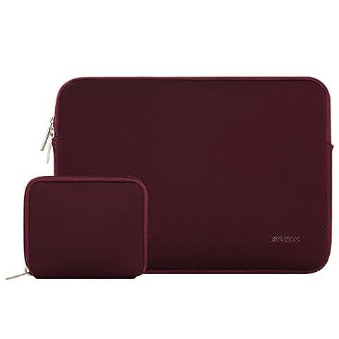 MOSISO Wasserresistente Lycra Laptop Hülsen Beutel Abdeckung für 13-13.3 Zoll MacBook Pro, MacBook Air, Notebook mit kleinem Kasten Fall, Weinrot