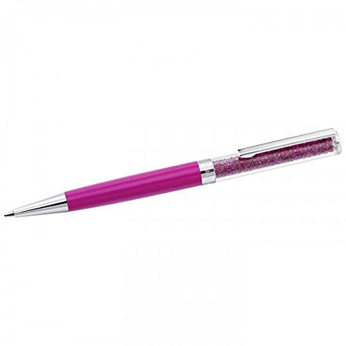 Swarovski Damen-Kugelschreiber Metall Swarovski Kristalle One Size, pink