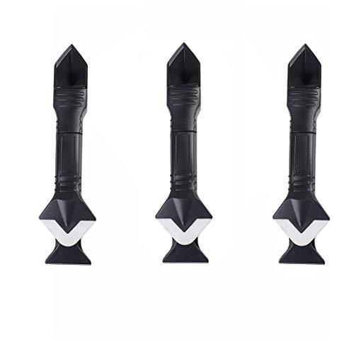 Tensay 3 Stücke 3 In 1 Silikonentferner Abdichten Finisher Dichtmittel Glatte Schaber Mörtel Kit Werkzeuge für Neubau Haus (Abdichten Stuck)