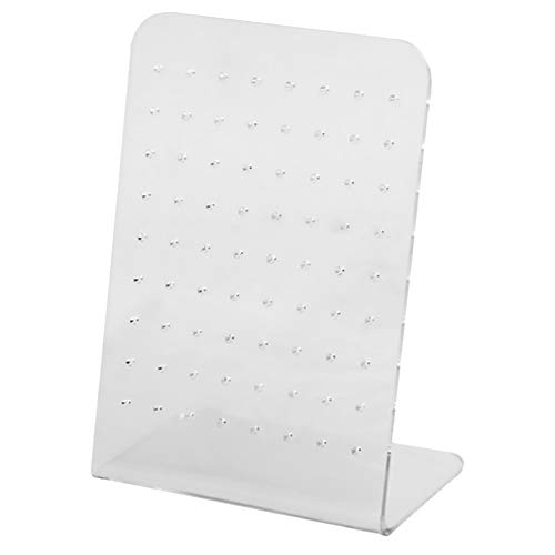 Ouken Ohrring-Halter Plexiglas-Ohr-Bolzen-Organisator Schmuck Display-Ständer durchbohrten Showcase-Rack -