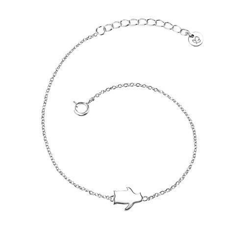 (Glanzstücke München Damen-Armband Pinguin Sterling Silber 17 + 3 cm - Silberkettchen mit Anhänger Pinguin Armkettchen Silber Freundschaftsarmbänder)