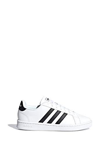 Adidas Grand Court, Damen Hallenschuhe, Weiß (Ftwbla/Negbás/Ftwbla 000), 43 1/3 EU (9 UK)
