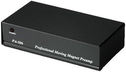 Hama Stereo Phono-Vorverstärker PA 506 (Für Plattenspieler, Inkl. Netzadapter 230V/50Hz, 300mA, Cinchkabel 0,9 m) schwarz