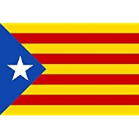 Q&J Gran Bandera Independentista de Cataluña - Medidas 150 x 230 cm. - 100% Polyester