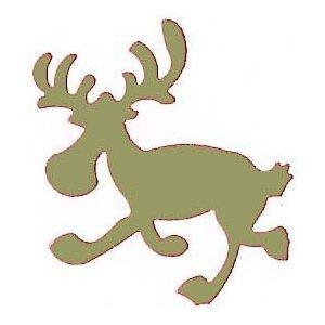 (efco Elk Running, Pink, 67x 57mm)