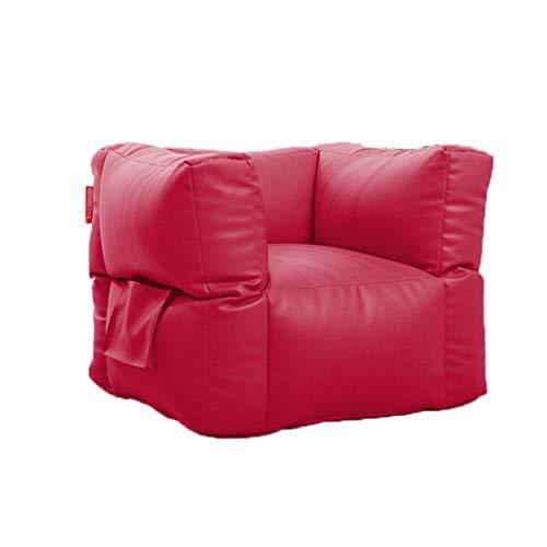 Sofas Quadratische Sitzsäcke und PU-BeanBag Aus Leder PU Multicolor Optional (Color : Red, Size :...