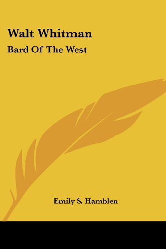 Walt Whitman: Bard of the West