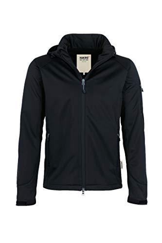 HAKRO Softshell-Jacke Ontario - 848 - schwarz - Größe: 6XL (Größentabelle Große Jacke Herren)
