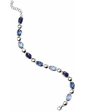 Elements Damen Armband 925 Sterling Silber Kristall Zirkonia blau B3199