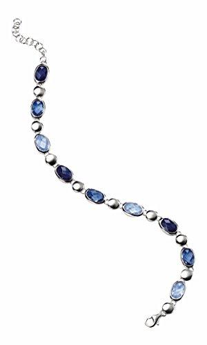elements-damen-armband-925-sterling-silber-kristall-zirkonia-21-cm-blau-b3199l