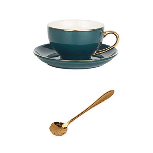 Tazze da tè in ceramica inglese set da tè tazza da caffè set di cucchiai da cucina, tazza di porcellana con portabicchieri, adatto for uso domestico, regali di festa, tea party, cappuccino, espresso