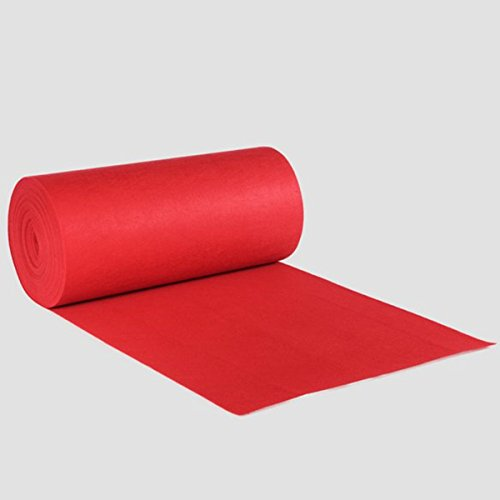 Tutoy 40Ftx4Ft Large Red Carpet Wedding Birthday Aisle Floor Runner Hollywood Party Decoration Prop (Red Kaufen Carpet)