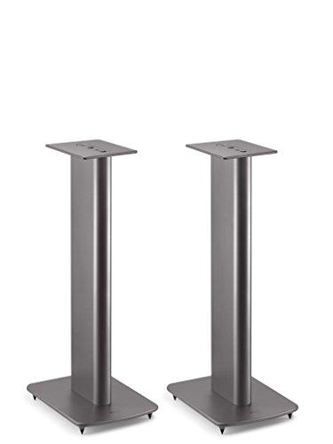 KEF Performance Speaker Stand für Regallautsprecher mit Kabelführung (Paar), Titanium Grau