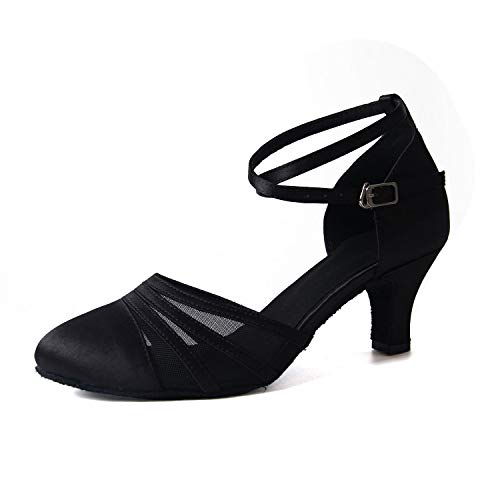 Syrads Zapatos de Baile Latino para Mujer Baile de Salón Tacón Alto Zapatos de Tango Salsa Samba Vals...