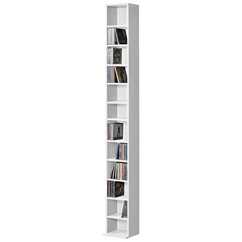 Weiß mit 12 Ablageflächen - Bücherregal Standregal Regal Aufbewahrung ()