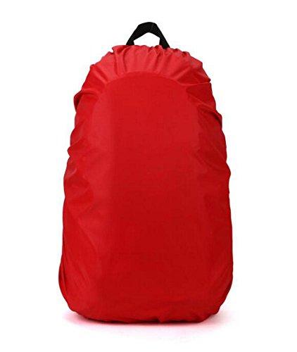 Demarkt Rucksack Überzug Wasserdichter Regenschutz Rucksack Cover Regenhüllen Regenabdeckung für Camping Wandern size 60L (Rot)